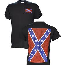 Cool Confederate Flag Pics Confederate Flag On A Black Short Sleeve T Shirt 2 Sided Country