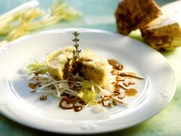 small potato and celery root cakes with celery salad recipe eat