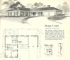 1571 1354 in vintage house plans 1960s l shaped and t shaped