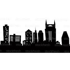 houston skyline silhouette houston texas skyline city silhouette