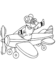 cartoon mouse riding airplane coloring u0026 coloring pages