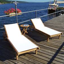 Chaise Lounge Patio Furniture Furniture Exciting Teak Chaise Lounge Outdoor With White Seating