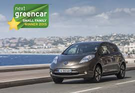 nissan small car new 30kwh leaf wins best small family car award nissan insider