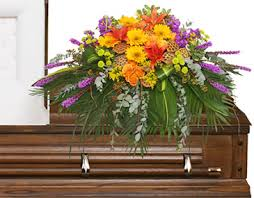 casket spray radiant medley casket spray funeral flowers in claremont nh