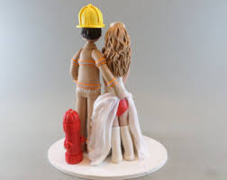 fireman wedding cake toppers wedding cake etsy