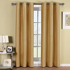 Hotel Room Darkening Curtains Soho Gold Grommet Blackout Window Curtain Panel Solid