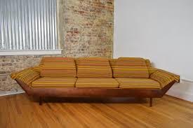 style sofa flexsteel mid century modern thunderbird gondola style sofa