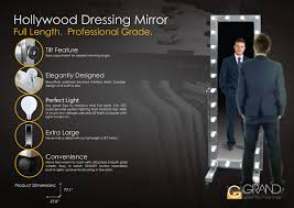Mirror With Lights Around It Dm 800 Stainless Steel Hollywood Dressing Mirror