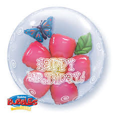 plastic balloons birthday flower plastic balloon 24 balloons co uk