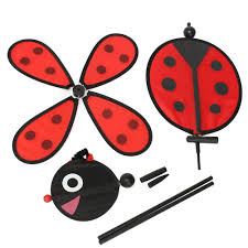 bumble bee ladybug windmill whirligig wind spinner home yard
