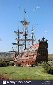pirate ship in sazova science art and culture park eskisehir