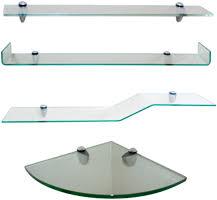 Glass Shelves Kitchen Cabinets Floating Glass Shelves White Dvd Mount 2 Clear Floating Glass