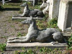 i been hauling this 65 lb whippet statue around with me since