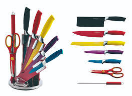 cenocco cc col8w 8 pcs knife set with acrylic stand wholesale