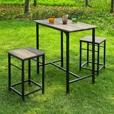Bar Set Patio Furniture Haotiangroup Rakuten Haotian Sling High Bistro Set Home