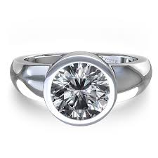 set ring best 25 bezel set engagement rings ideas on bezel