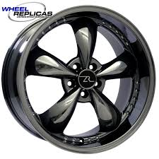 Black Mustang Wheels 20x10 Deep Dish Black Chrome Bullitt Motorsport Wheels For