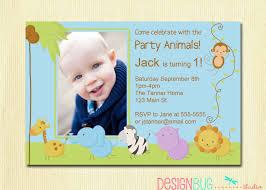 First Year Invitation Birthday Cards First Birthday Boy Invitation Baby Jungle By Designbugstudio B