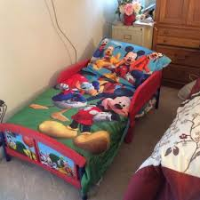 Mickey Mouse Sofa Bed by Mickey Mouse Plastic Toddler Bed Walmart Com