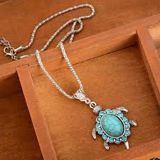 tibetan pendant necklace images Tibetan turquoise turtle pendant save our oceans jpg