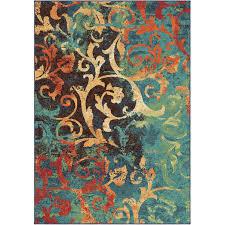 Brown Paisley Rug Orian Rugs Watercolor Scroll Multi Colored Area Rug Or Runner