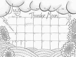 july 2017 calendar coloring page u201cthunder moon u201d u2013 studio inkcycle