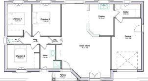 plan maison plain pied 3 chambres plan maison 100m2 a etage plan de maison 100m2 3 chambres 9 plain