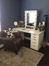 Lighted Makeup Vanity Mirror Bedroom Narrow Makeup Vanity Black Vanity Table Vanity Mirror