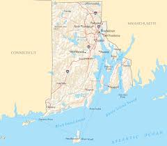 Blank Map Of Rhode Island by Rhode Island Map Blank Political Rhode Island Map With Cities