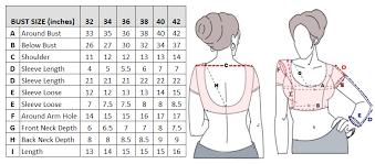 blouse size chart size charts
