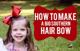 big bows for hair how to make a big southern bow northshore parent