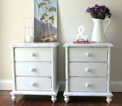 Vintage Bedside Tables Side Table Provincial Features Antique White Timber Bedside