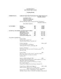 Experienced Resume Samples Experienced Resume Sample From Doctor Of Education For Substitute