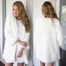 fur sweater faux fur sweater sleeve tops cardigan outwear