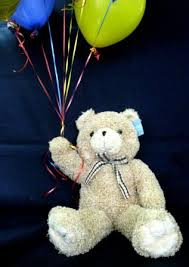 teddy balloons plush curly teddy with balloons 50 60 sensational baskets