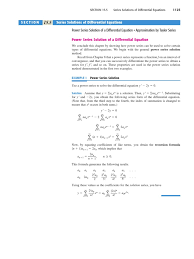 power series power series differential equations