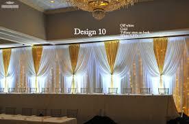 wedding backdrop gold venues