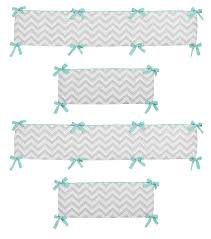 sweet jojo designs zig zag turquoise and gray collection fitted