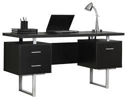 Metal Computer Desk 60 Silver Metal Computer Desk Contemporary Desks And Hutches