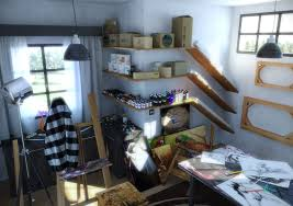 Art Studio Desk by Workspace Decorating Ideas Artists Studio Hobby Room Workspace