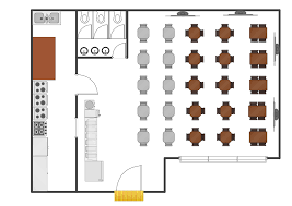 modern simple restaurant floor plan solution to draw your own cafe