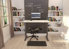 electronic sit stand desk frame only black height adjustable