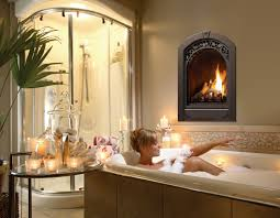 furniture awesome gas fireplace in bathroom design
