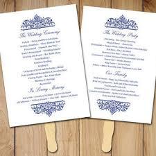 order wedding ceremony program wedding fan program template printable from paintthedaydesigns