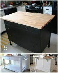 How To Make An Kitchen Island Diy Kitchen Island From Stock Cabinets Diy Home Pinterest