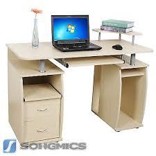 bureau pc meuble songmics mdf bureau informatique table pc ordinateur meuble