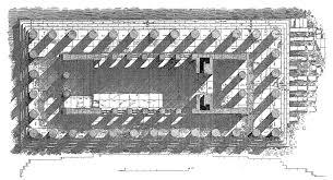 floor plan perspective of greek built temple of concordia
