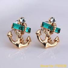 anchor earrings popular anchor earrings blue buy cheap anchor earrings blue lots