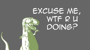 Funny T Rex Meme - abstract dinosaur funny humor font grey background 1920x1080