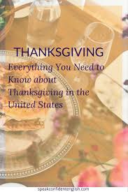 vocabulary celebrating thanksgiving in the united states